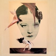 """Saatchi Art Artist: Ruth Jean Silver; Paper 2012 Collage """"homage to hannah hoch russian dancer/ my double"""""""