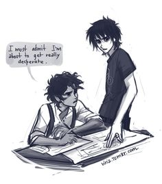 Leo Valdez and Nico di Angelo... I have no Idea what this is about... But it's still cool.