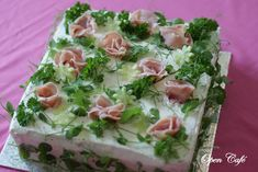 Sandwich Cake, Sandwiches, Cheesecakes, Finger Foods, Pasta Salad, Potato Salad, Diy And Crafts, Bridal Shower, Food And Drink