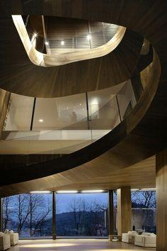 Oak Cladded Staircase ByOFIS arhitekti