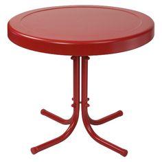 Crosley Metal Retro Patio Side Table : Target