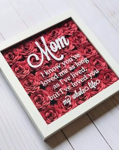 Mom from Daughter – Personalized Gift for Mom – Frame Gift for Mom – Mom Gifts from Son – Mom Birthday Gift – Mothers Day Gift -Gift for Mom – Presents For Mom Diy Gifts For Mom, Personalized Gifts For Mom, Diy Mothers Day Gifts, Grandma Gifts, Mother Gifts, Present For Mom, Mothers Day Ideas, Nice Gifts, Mothersday Gift Ideas