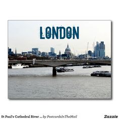 St Paul's Cathedral River Thames View Postcard