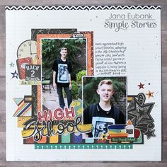 Layout from creative team member Jana Eubank with the Old School Simple Set