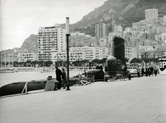 Rare view of a submarine in the Herculis port of Monaco http://monaco-addict.com