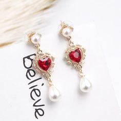 87c38d477e6969 Clear Cubic Zirconia Pearl Earrings For Women Girls 585 Rose Gold Stud Earrings  Fashion Girlfriend Women's Jewelry Gifts