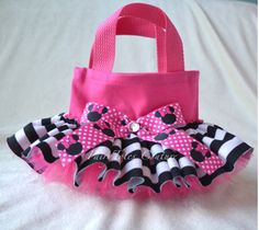 Minnie Mouse Tutu Tote - Minnie Mouse Party Favor - Found on Etsy at FairyTotes Couture
