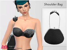 This set contains shoulder bag, bra with spick  and tulle skirt  Found in TSR Category 'Sims 4 Sets'