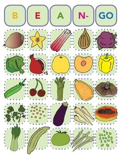 veggie bingo - Re-pinned by @PediaStaff – Please Visit http://ht.ly/63sNt for all our pediatric therapy pins