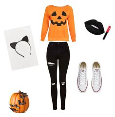 """Halloween"" by ajtc204 on Polyvore featuring interior, interiors, interior design, home, home decor, interior decorating, Topshop, Lime Crime, Urban Outfitters and Converse"