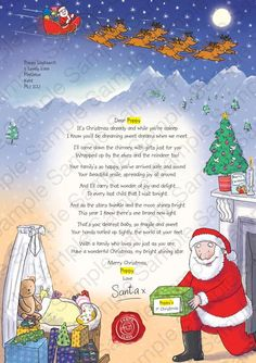 Printable reply letter from santa kids christmas printable dear letter from santa christmas at the nspcc age appropiate and even for newborns spiritdancerdesigns Gallery