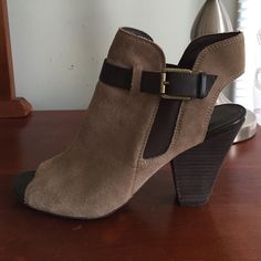 Franco Sarto open toe booties-offers welcome Franco Sarto faux suede booties. Offers welcome. Franco Sarto Shoes Ankle Boots & Booties
