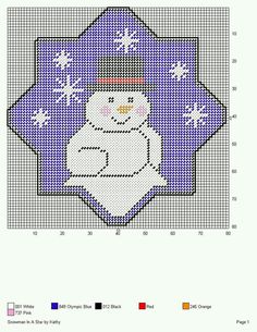 SNOWMAN IN A STAR by KATHY
