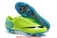 Nike Mercurial Vapor X FG Fluorescent Green Black Soccer Cleats