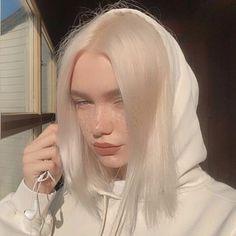 Icy Blonde, White Blonde, Hair Inspo, Hair Inspiration, Hair Streaks, Dye My Hair, Aesthetic Hair, Aesthetic Grunge, Grunge Hair
