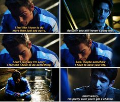 "Teen Wolf Season Episode 14 ""The Sword and the Spirit"" ~ Liam Dunbar & Scott McCall Father Son Quotes, Dad Quotes, Sister Quotes, Father And Son, Daughter Quotes, Family Quotes, Teen Wolf Mtv, Teen Wolf Ships, Teen Wolf Cast"
