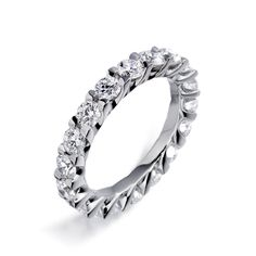 Platinum Diamond Full Eternity Ring 1U19B | Christopher Wharton