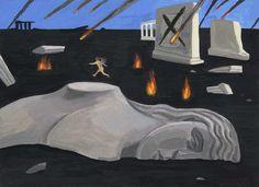 Mount Rushmore, Illustration Art, Mountains, Canvas, Nature, Artwork, Travel, Painting, Tela