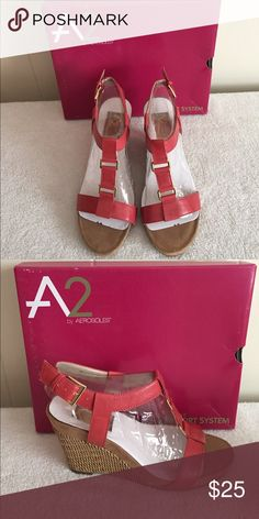 9885407c452a03 NWT Aerosoles size 8 coral sandals Coral sandals with 4 inch heels. Brand  new with unique comfort system By Aerosoles Shoes Sandals