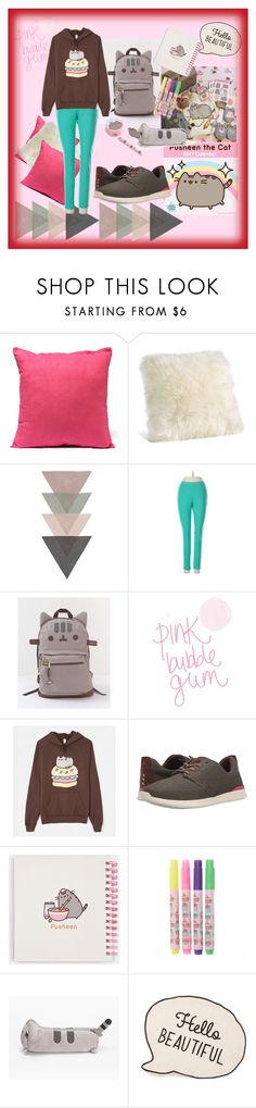 """""""Pusheen"""" by schwarz1 ❤ liked on Polyvore featuring Steve Madden, Pusheen and Reef"""