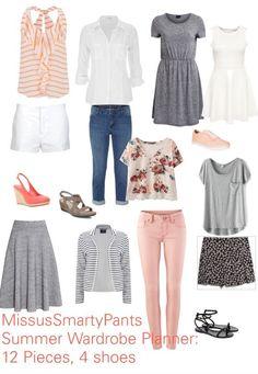 Use this 4-Step process to help you plan a core wardrobe for summer! Core Wardrobe, Build A Wardrobe, Simple Wardrobe, Professional Wardrobe, Travel Wardrobe, Minimalist Wardrobe, Summer Wardrobe, Capsule Wardrobe, Wardrobe Ideas