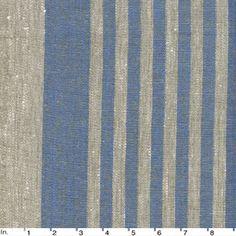 IL073 840 BLUE THIN STRIPE    - 100% Linen - Canvas (9.1 oz/yd2)