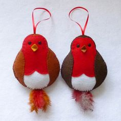 Robin Red Breast Ornament PDF Sewing Pattern and Tutorial Instant Download Easy Step-by-Step Instructions (2.50 GBP) by SewJuneJones