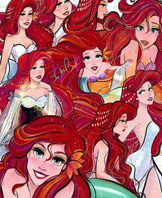 Disney Princess Art, Ariel Disney, Disney Nerd, Mermaid Princess, Disney Fan Art, Disney Dream, Disney Love, Disney Magic, Disney And Dreamworks