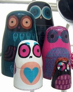 owl matryoshkas! :: it doesn't get more fantastic than that, people.