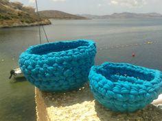 cestos azules trapillo