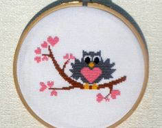 Birds in love is a pattern, not the completed work.  I designed it myself.  On 16-count aida the design measures 4.6*3.0 inches. Sizes will change with count size.  Design used 5 DMC thread colors. This pattern is in PDF format and consists of a floss list, and a color symbol chart. If you have any questions about this pattern, please ask me. I will contact you with any further instructions when order is received.  After the payment successfully processes, the buyer will receive an automatic…