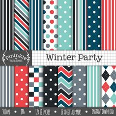 Winter Party Digital Paper Pack