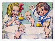 Kewpies serving Jello illustration #4