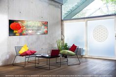 Mantra Wanddekobild Gayatri Blume des Lebens Fensteraufkleber Yoga Studio Design, Yoga Inspiration, Ayurveda, Feng Shui, Web Design, Yoga Lifestyle, Mantra, Dining Table, Boho