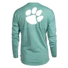 Blend Football Tee Womens Long Sleeve Tri Official NCAA Venley Clemson University Tigers TIGER RAG
