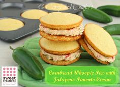 Cornbread Whoopie Pies with Jalapeno Pimento Cheese - OMG I HAVE to try this!