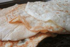Coconut Flour Tortillas - coconut flour, baking powder, egg whites, water or coconut milk, and coconut oil or butter