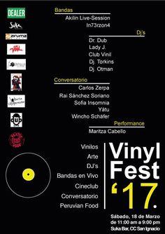 Próx. sábado 18, 11 am - 9 pm. #ZirumaDiscos presente en #vinylfest17 con todo su #coleccionismo_discográfico. 4pm conversatorio sobre el #Vinilo, con Rai Sánchez Soriano entre otros ponentes. #ZukaBar C.C. San Ignacio. Entrada Libre!