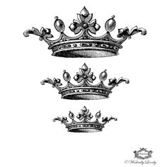 Three Vintage crowns Wickedly Lovely skin art by WickedlyLovelyArt, £3.50