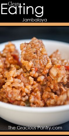 Clean Eating Jambalaya. #CleanEating #EatClean #CleanEatingRecipes #SouthernFood