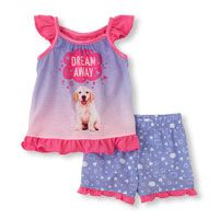 photo-real dream puppy PJ set