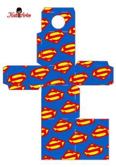 Cajas de Super H�roes para Frascos. Para Imprimir Gratis.