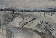 "Original art postcard by Janine Baldwin, pastel, charcoal and graphite collage on card, 4""x6"", £20 https://www.etsy.com/uk/shop/JanineBaldwinArt?ref=hdr_shop_menu"