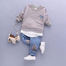 8f3af1ea86 2017 Conjuntos Crianças Outono das Crianças das Crianças Conjunto de Roupas  de Bebê Menino Outfit Terno