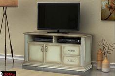 Έπιπλο τηλεόρασης Ίρις με τεχνοτροπία πατίνα παλαίωσης! Flat Screen, The Unit, Entertaining, Tv, Furniture, Home Decor, Flatscreen, Interior Design, Home Interior Design