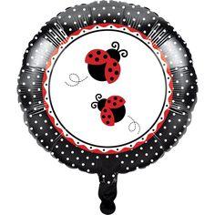 Ladybug Fancy Metallic Balloon (12/case)
