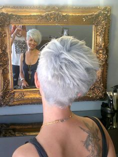 Short hairstyle #backview