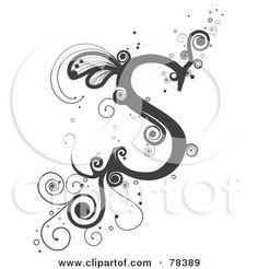 Vine Alphabet Letter S Posters, Art Prints