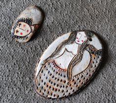 Placas dibujadas de cerámica