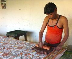 Shyam Das supports his wife and two children by making beautiful block-printed textiles – a skill in his family for three or more generations. After losing his parents to an earthquake in 2001, Shyam began working within the Fair Trade movement, and continued to develop his skill. Now he can honour the traditions of his parents while providing a better standard of living for his family.